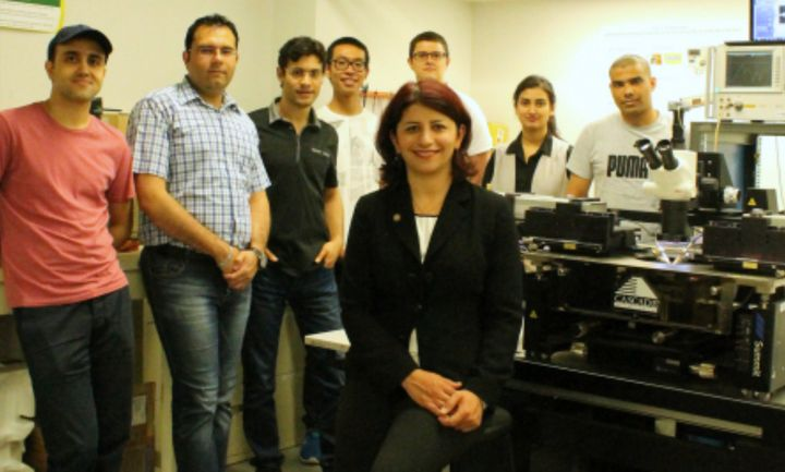 Mojgan Daneshmand, pictured with her research group in 2016, was awarded for pioneering contributions to the field of microwave technology.