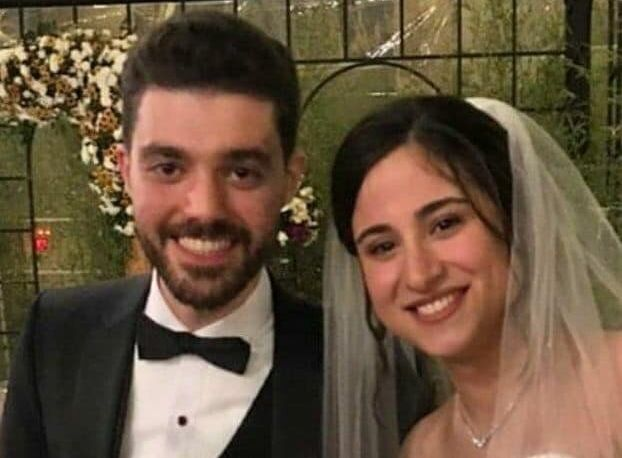 Arash Pourzarabi and Pouneh Gorji at their wedding in