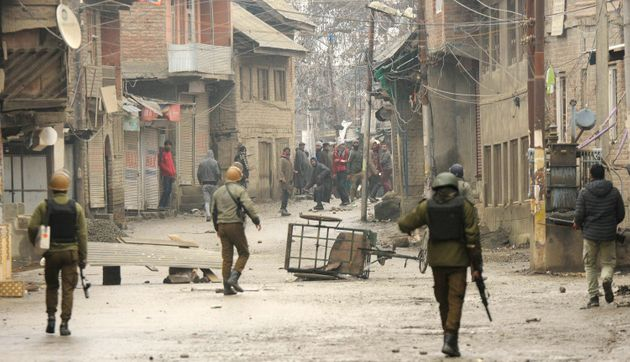 Protests on January 7, 2020 in the Nowgam in Srinagar after a 16-year-old student was killed in an accident...