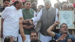 Yashwant Sinha, Sharad Pawar Launch 'Gandhi Shanti Yatra' In