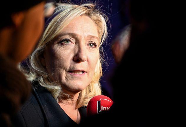 Marine Le Pen, présidente du Rassemblement national, décembre