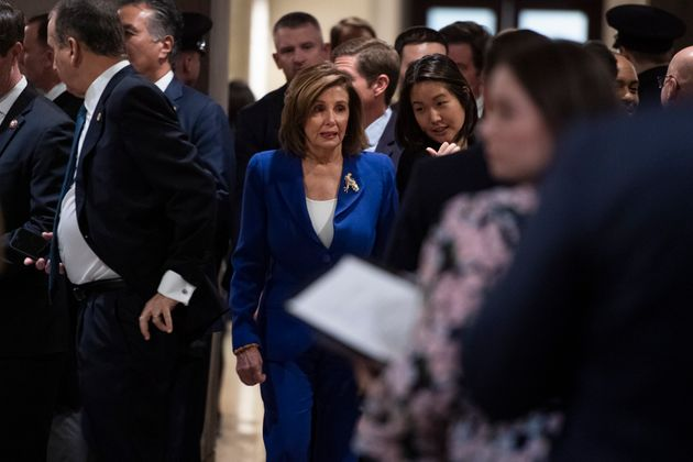 UNITED STATES - JANUARY 8: Speaker of the House Nancy Pelosi, D-Calif., arrives to the Capitol Visitor...