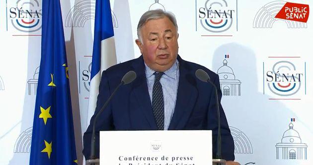 Gérard Larcher en conférence de presse ce jeudi 9