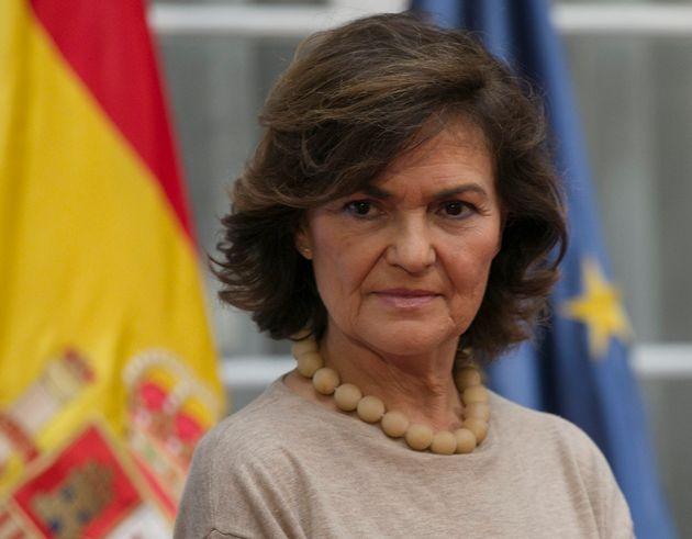Carmen Calvo, en una imagen de diciembre de