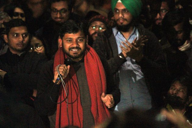 Former JNUSU president Kanhaiya Kumar outside Sabarmati Hostel, JNU, on January 7,