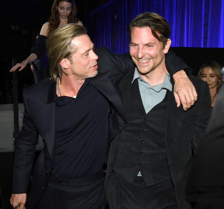 Brad Pitt and Bradley Cooper attend The National Board of Review Annual Awards Gala on Jan. 8, 2020 in New York City.