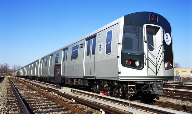 A Bombardier R179 series subway train, the model purchased by New York's MTA, is pictured in this handout...