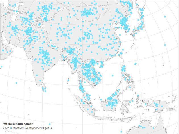 Captura del mapa publicado por 'The New York