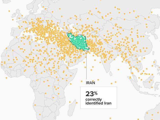 ¿Eres capaz de ubicar Irán en el mapa? Estas son las respuestas de 2.000