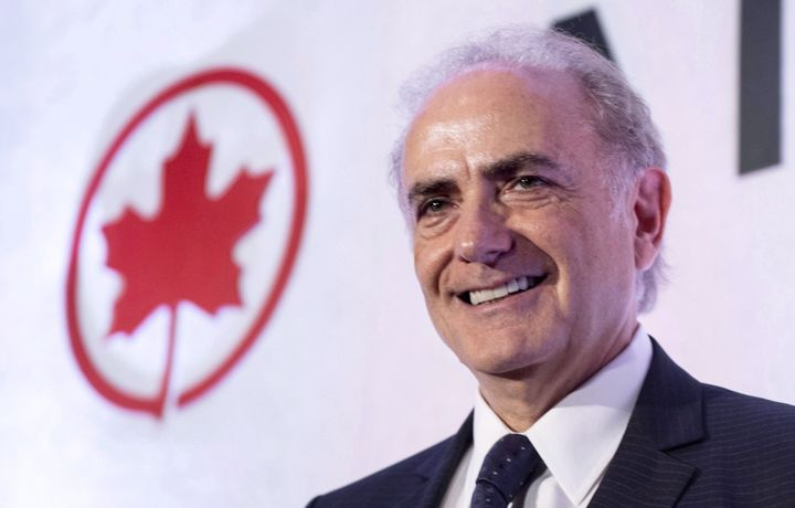 Air Canada president and CEO Calin Rovinescu -- shown here at the airline's annual meeting in Montreal, Mon. April 30, 2018 -- took home more pay in 2018 tha the airline paid in taxes, according to Canadians for Tax Fairness.
