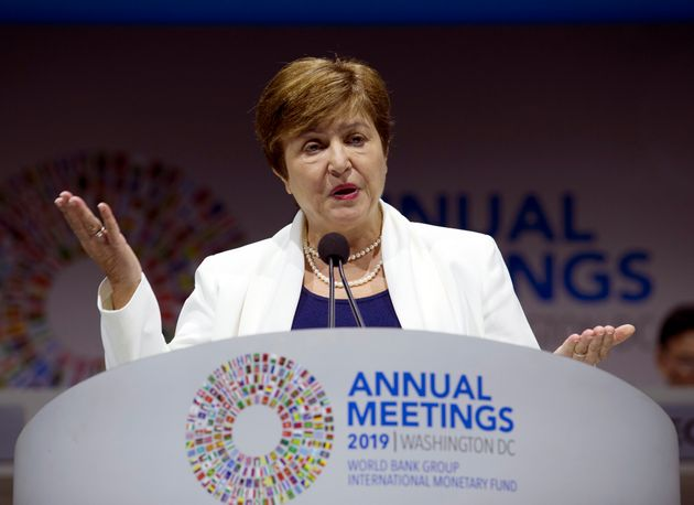 International Monetary Fund (IMF) managing director Kristalina Georgieva -- shown here at the World Bank/IMF...