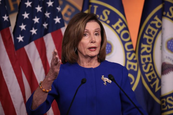 U.S. Speaker of the House Nancy Pelosi answers questions during a press conference at the U.S. Capitol on Jan. 9 in Washingto