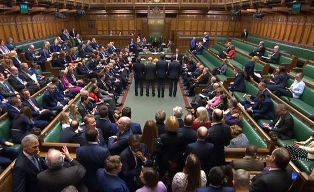 Les députés britanniques à la Chambre des communes à Londres le 9 janvier
