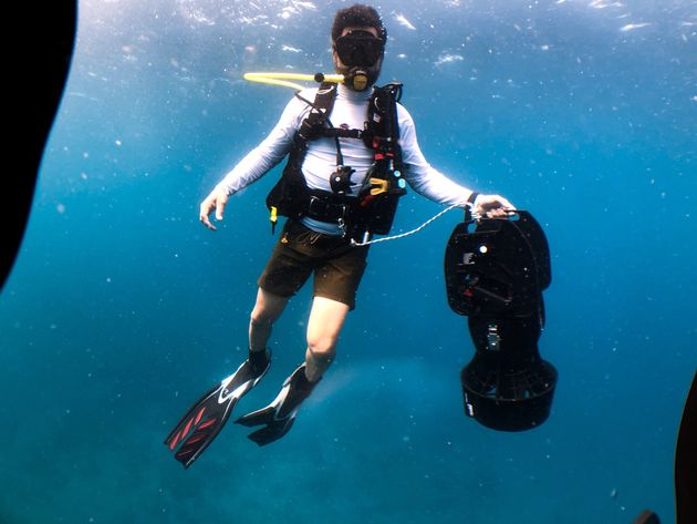 Huertas is an avid diver and has worked to educate others about environmental