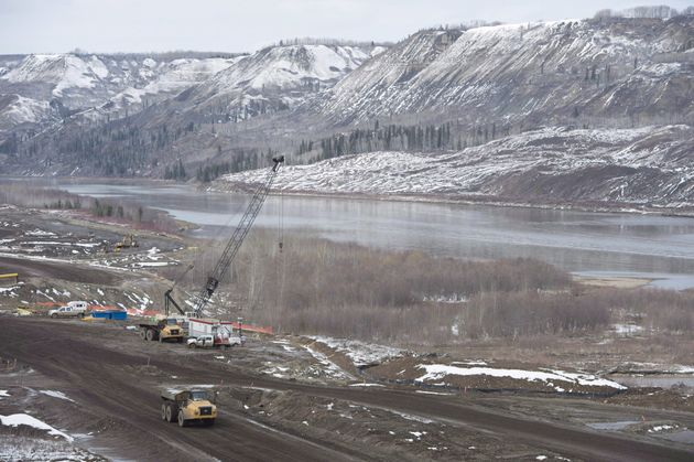 The Site C Dam location along the Peace River in Fort St. John, B.C., on April 18,