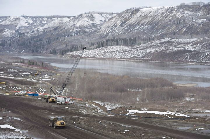 The Site C Dam location along the Peace River in Fort St. John, B.C., on April 18, 2017.