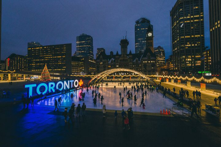 Skating Nathan Philips Square, Toronto