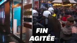Vitrines brisées, violences et charges policières en fin de manifestation à