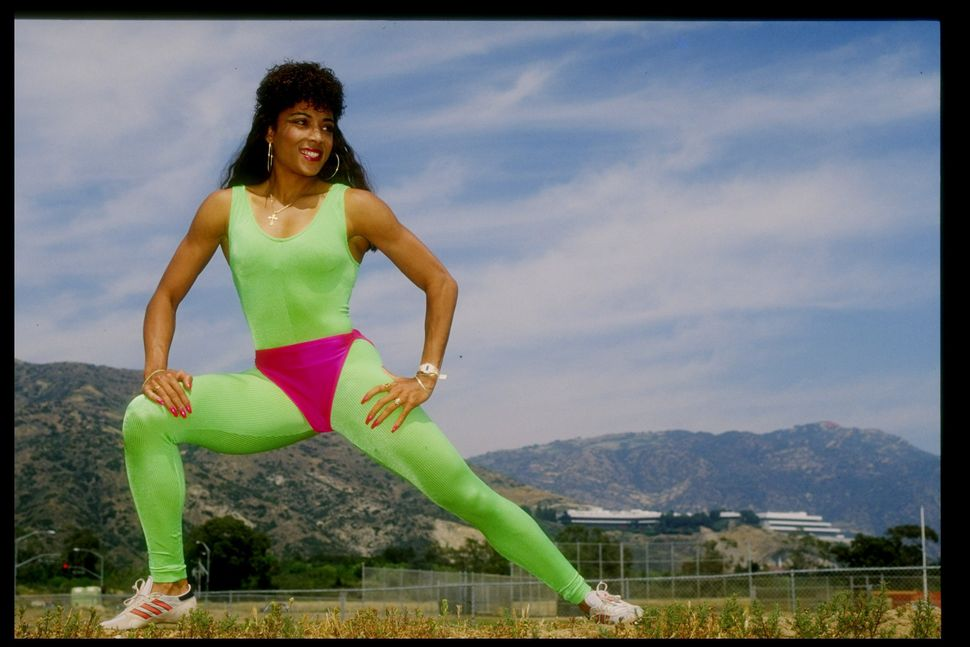 Flo-Jo poses for a picture in 1987.