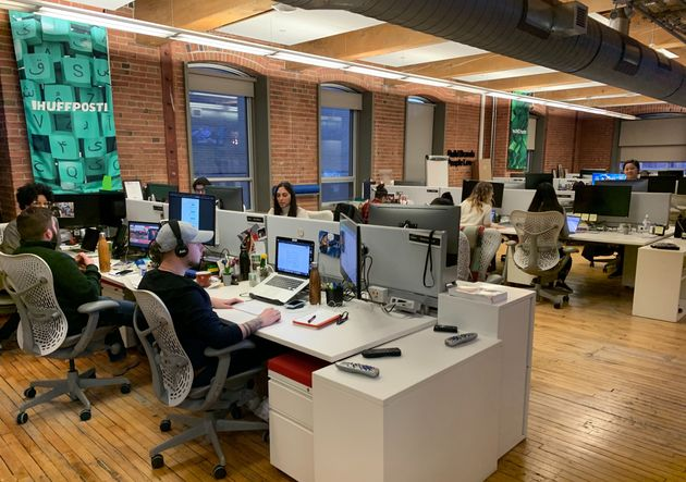 The HuffPost Canada newsroom in Toronto is pictured on Jan. 9,