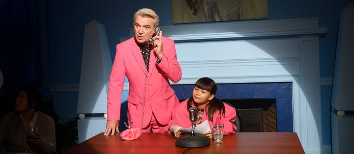 """David Byrne in the special""""John Mulaney & The Sack Lunch Bunch."""""""