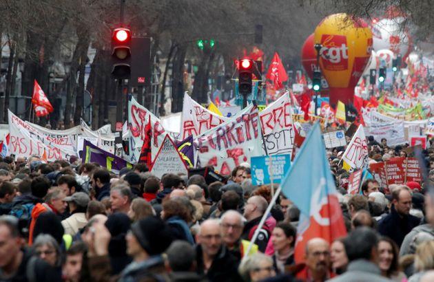 Manifestation contre la réforme des retraites le jeudi 9 janvier à