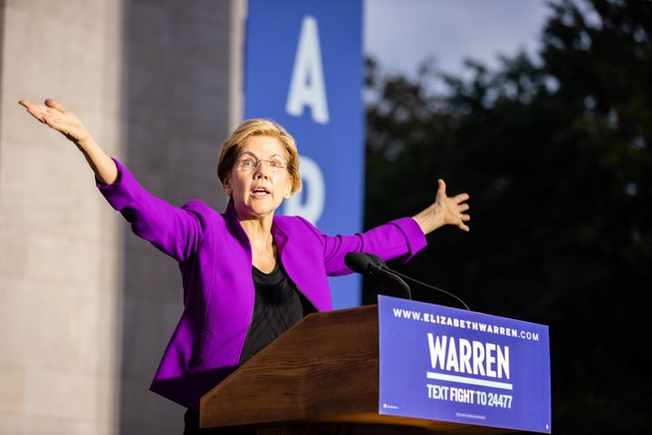 Elizabeth Warren addressed throngs of supporters in Manhattan on Sept. 16, 2019. It was a high point for her campaign, coming