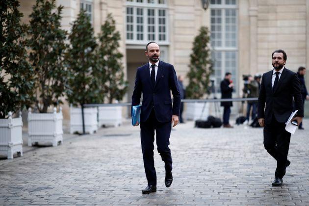 Philippe à Matignon en décembre 2019, après deux semaines de grève (photo