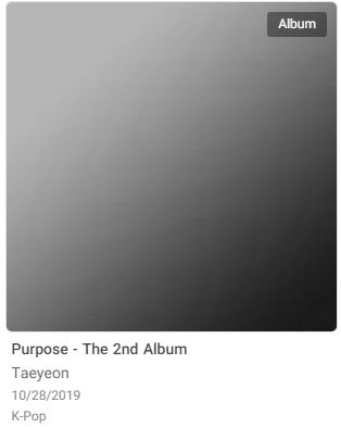 태연의 앨범 커버에는 원래 태연의 얼굴이 담겨 있으나, 완전히