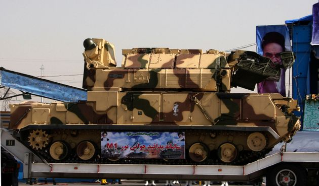 The Tor-M1 anti-aircraft defence system is displayed in a military parade to commemorate the anniversary...