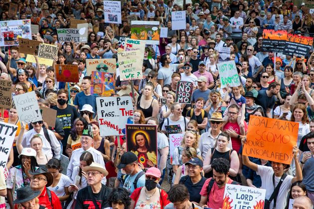 Thousands Gather At Sydney Climate Rally As Bushfire Crisis