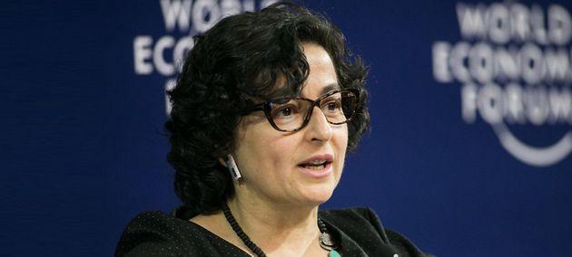 Arancha González Laya, en un acto del World Economic