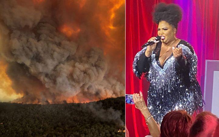 Lizzo gives an emotional speech on Australia's bushfire disaster.