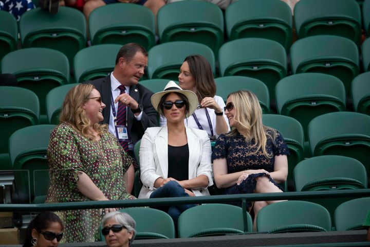 Duchess Meghan made a surprise appearance at Wimbledon last summer.