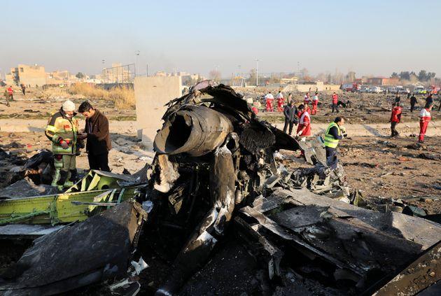 Les débris du Boeing qui s'est écrasé à