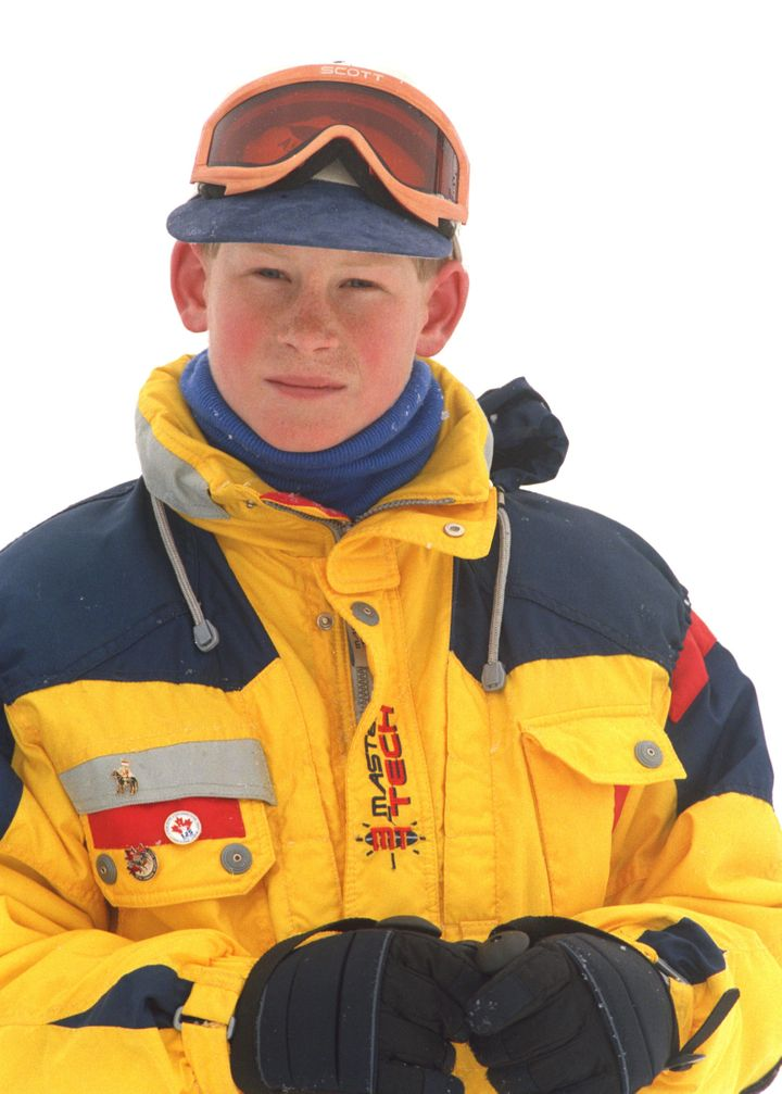 A young Prince Harry skiing In Whistler, B.C.
