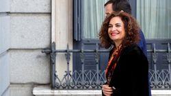 María Jesús Montero: la voz roja oscura casi