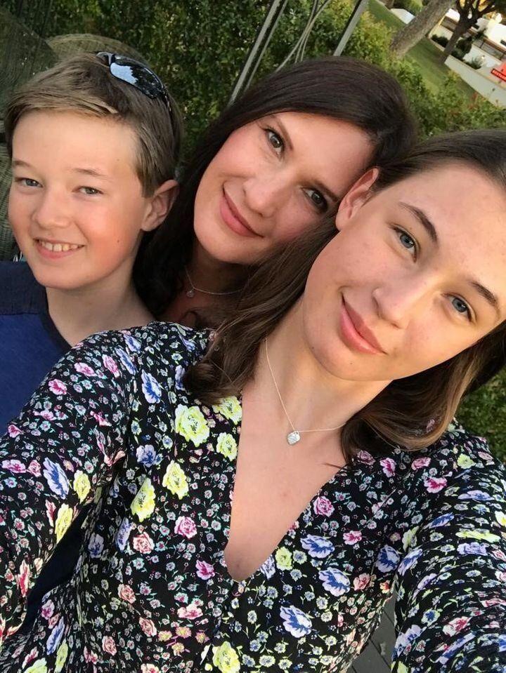 Annette Klimczak et ses enfants