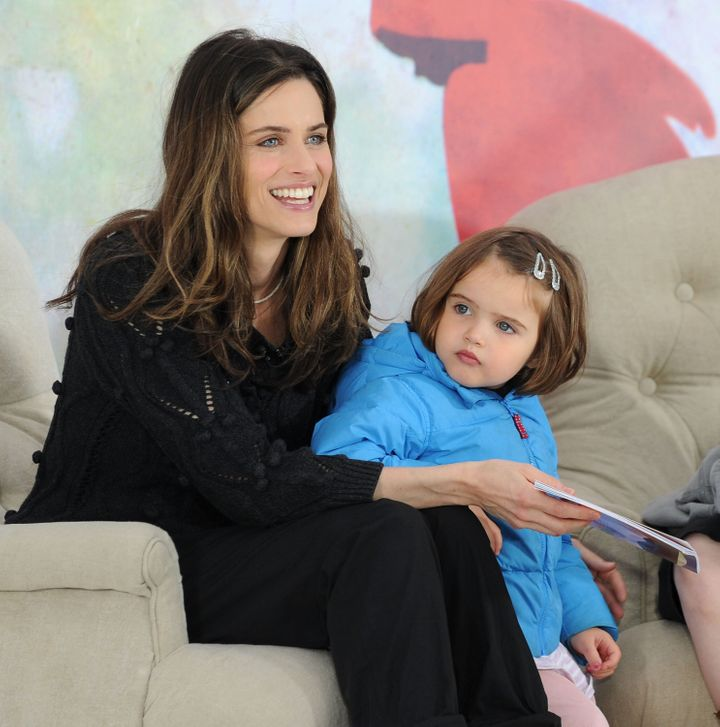 "Peet and her daughter Frances aka ""Frankie"" attend the fifth annual Jumpstart Read for the Record Day at Rockefeller Center on October 7, 2010, in New York City."