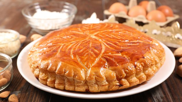 galette des rois, epiphany cake with ingredient and