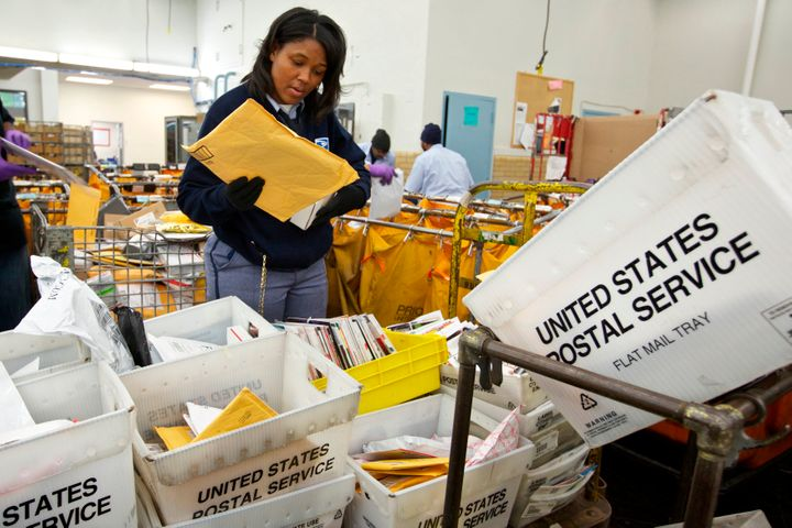 First-class mail has fallen in recent years, but the Postal Service has picked up a lot of business in parcel delivery due to