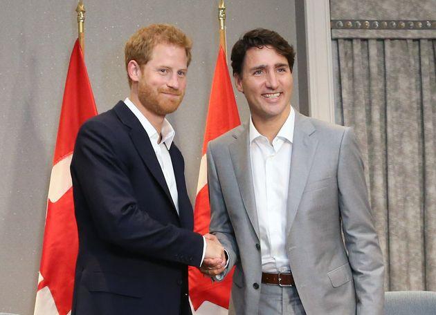 Le prince Harry et Justin