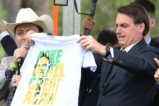 Jair Bolsonaro no lançamento do Aliança pelo Brasil em novembro de 2019, em um hotel em