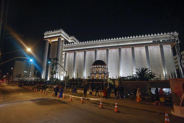 Templo de Salomão, da Igreja Universal, em São Paulo, é uma das principais igrejas...
