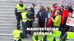 Joaquin Phoenix arrêté à la manifestation