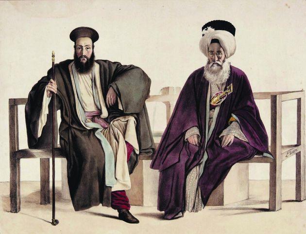 .Ελληνορδόδοξος ιερωμένος και μουσουλμάνος. (Αθήνα, 1819(;)) -- του Λουί