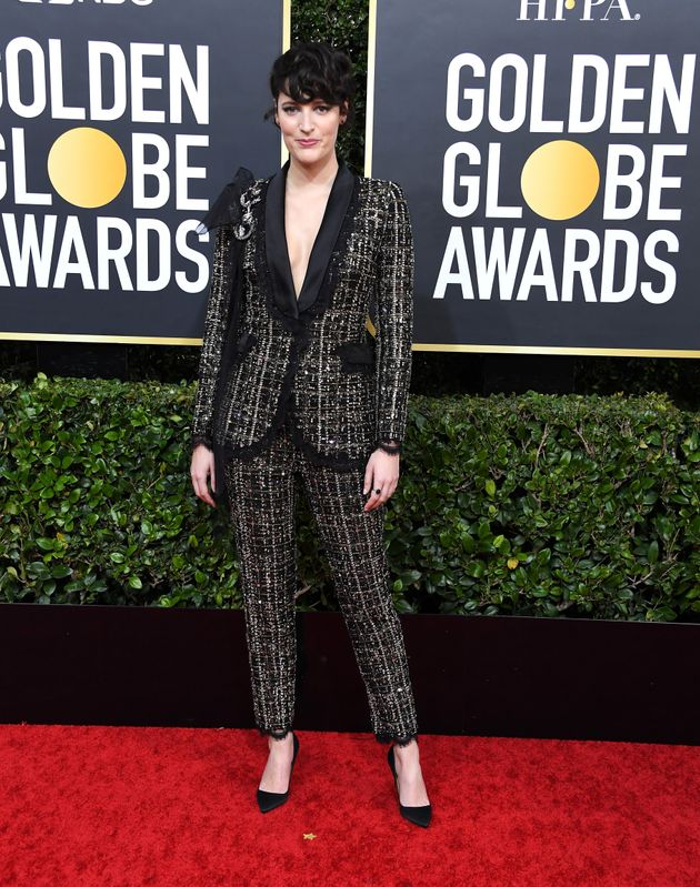Phoebe Waller-Bridge arrives at the Golden