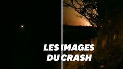 Le crash de l'avion en Iran dévoilé par des images