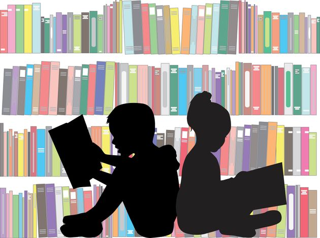 Children reading the