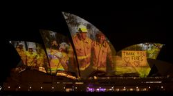 Images Of Hope From Australian Bushfires Projected Onto Sydney Opera House As A Tribute To Emergency